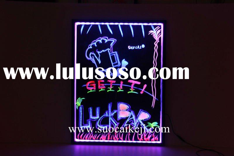 2012 Low Price Fluorescent Led Display Sign Message Menu Outdoor Advertising Display led Writing Boa