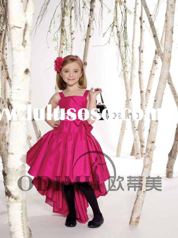 2012 Newest Style Flower girl dresses for bridal,pink little girl's party dress