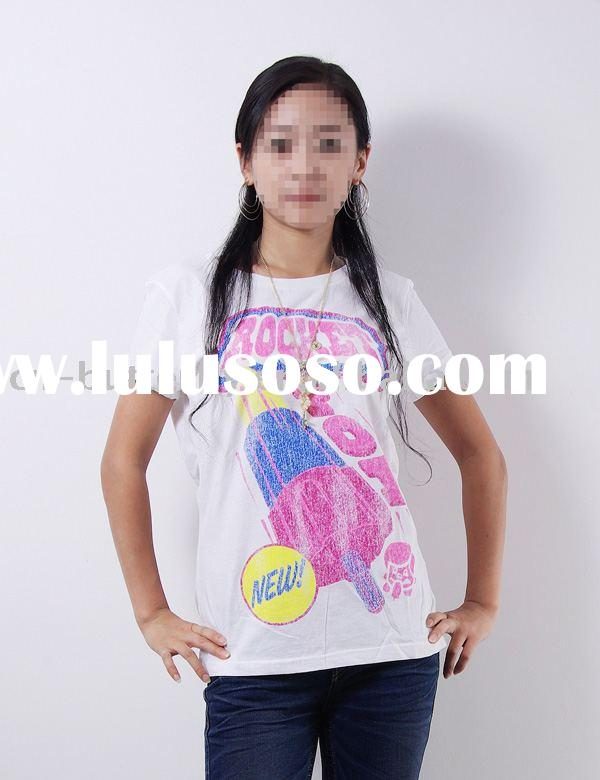 2012 Summer ladies' fashion t-shirt
