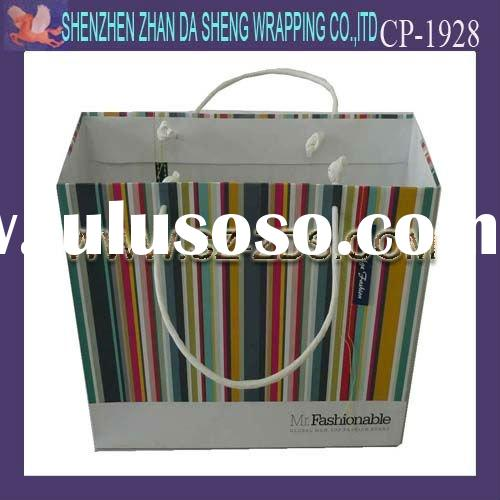 2012 colorful fashional and high quality paper bag