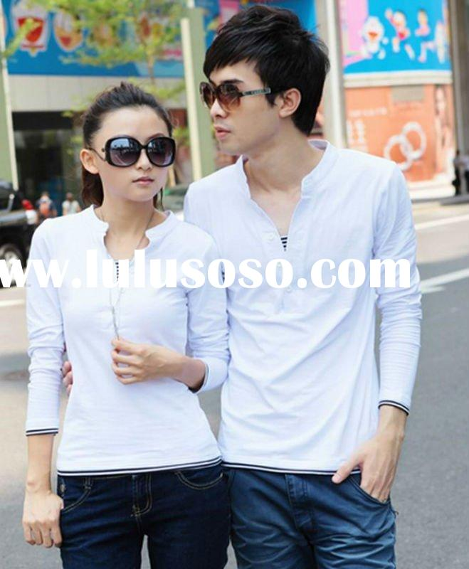 2012 fashion blank cotton long sleeve t-shirts in guangzhou