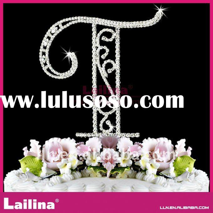 2012 fashion letter rhinestone cake toppers for wedding,birthday,party etc.