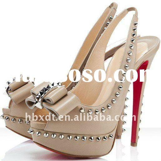 2012 fashion platform ladies high heel dress shoes