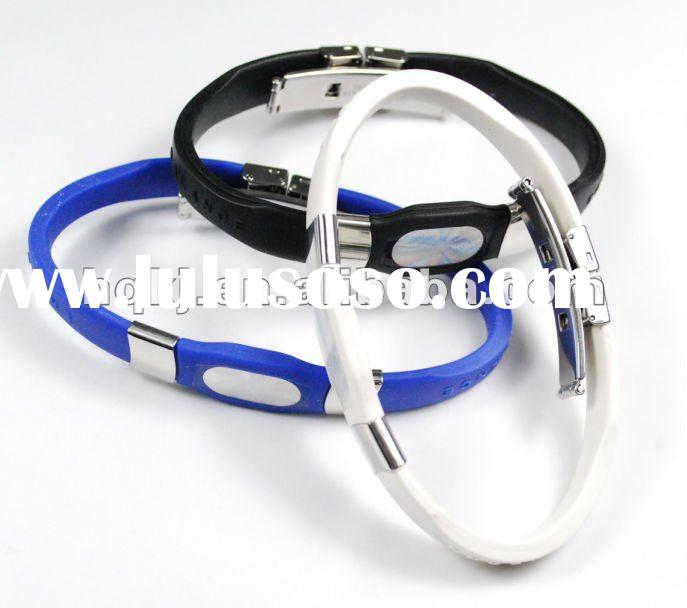2012 hotsale fashion silicone energy balance with power core bracelet