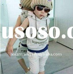 2012 hotsale high quality kids summer clothes with fashion design for kid