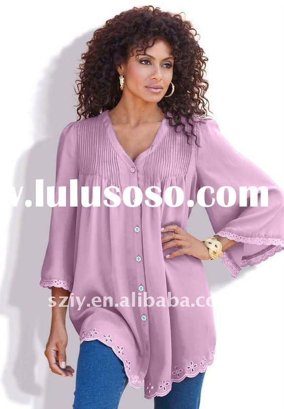2012 new arrivals long sleeve fashion women tops and blouses