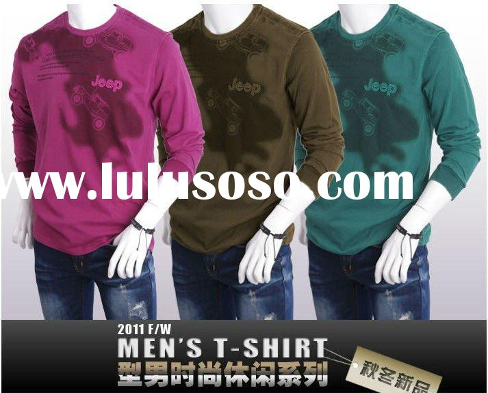 2012 news mens fashion long sleeve tirupur t shirts