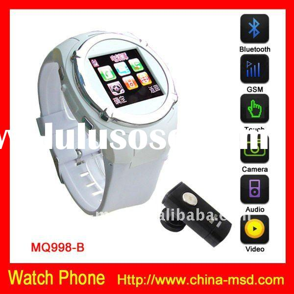 2012 unlocked mobile phone watch with bluetooth function + MP3/MP4 player + Camera hot item