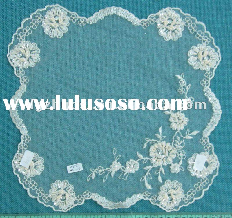 2012year New design embroidery table cloth and beaded table cover