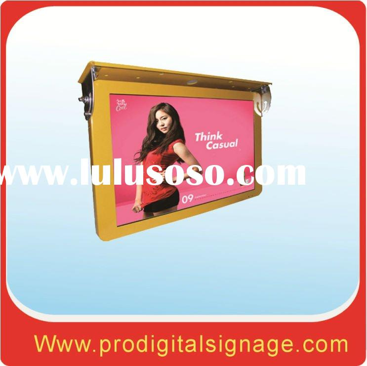 "22"" inch bus lcd advertising display with network"
