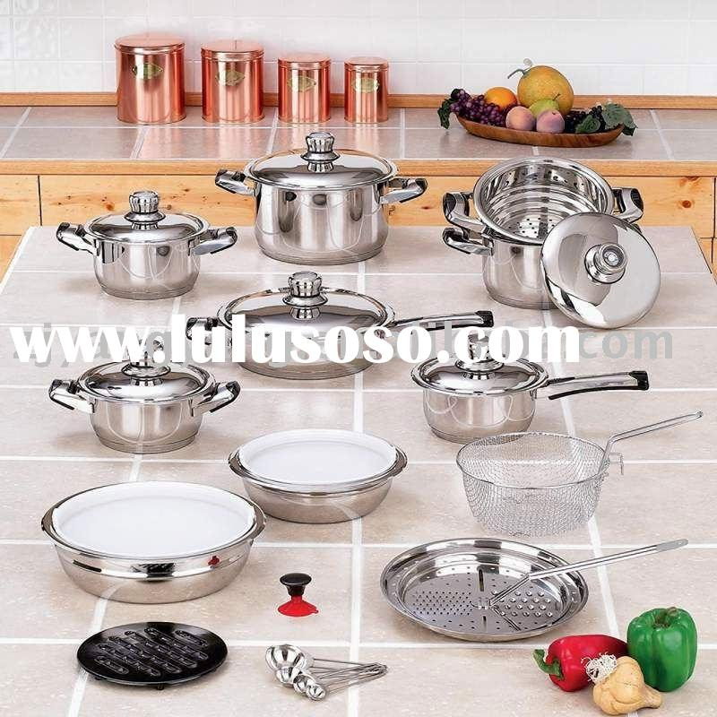 28pcs stainless steel cooking pot and pan cookware set
