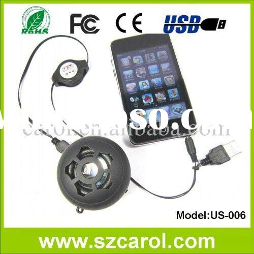 2 W usb rechargeable lithium battery support iphone 3G 4G nokia blackbarry mp3 mp4 mini speaker