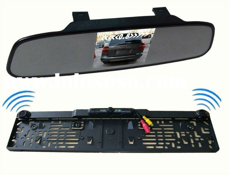 "3.5""TFT rearview mirror ,Ultra-thin rear-view mirror+Europe license plate frame camera"