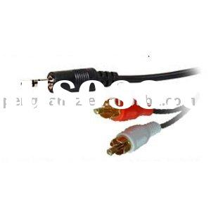 3.5mm Jack to 2 x RCA Phono Stereo Audio Cable 3m Lead