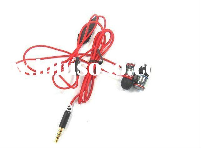 3.5mm high quality in ear earphone headset with remote and mic for iphone 4G and iphone 3GS series
