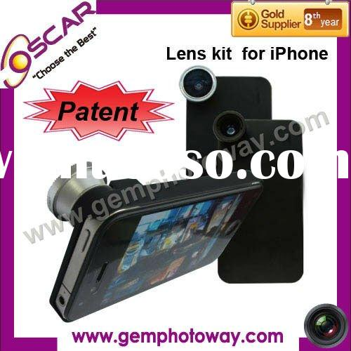 3 in 1 cell phone lens kit mobile phone lens Camera Lens for iphone extra parts