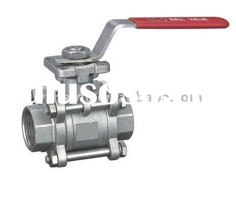 3p full bore S.S ball valve with mount pad