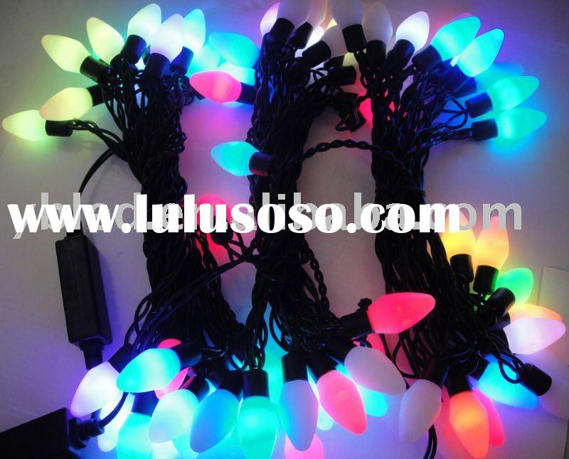 40 LED string lights with C9, rgb led string light control