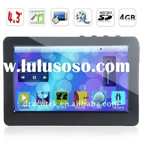 "4.3"" TFT LCD Touch Screen MP4 MP5 Player (Media player, FM, Game, Ebook, TV-OUT) 4GB MTP43B4G"