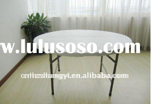 4ft plastic round folding restaurant dining tables and chairs