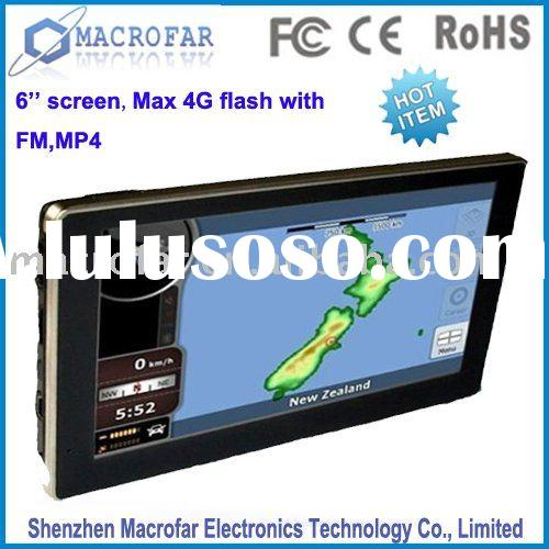 6 inch gps mobile with bluetooth,free map,radar,av-in,sd card(MF-060A)