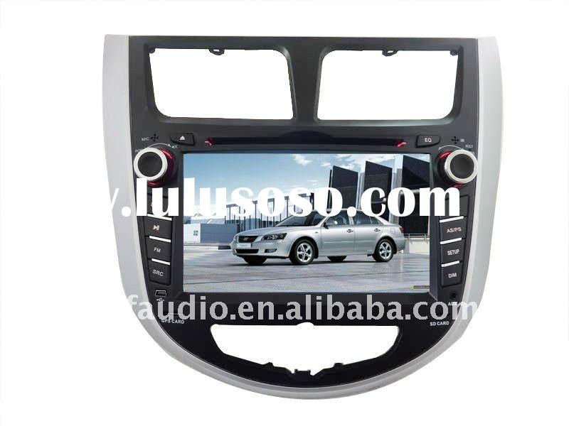 "7"" 2 DIN Car DVD GPS Navigation for Hyundai Verna/Solaris with Bluetooth IPOD RDS Digital touch"