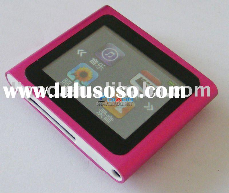 8GB 6th Gen 1.8'' LCD touch screen MP3 player Clip mp4