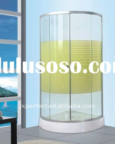 8mm tempered glass with strips 90x90cm sliding shower enclosures with low tray ZY-646