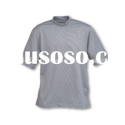 90% polyester popular mens mock neck t shirt short sleeve