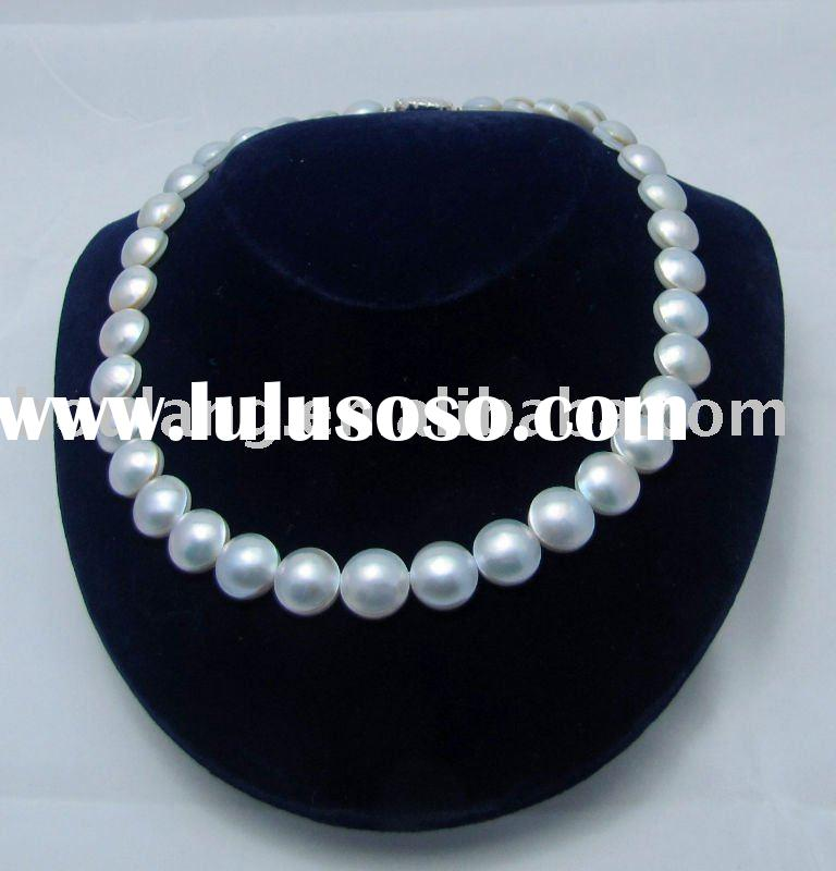 925 Sterling Silver Mabe Pearl Necklace