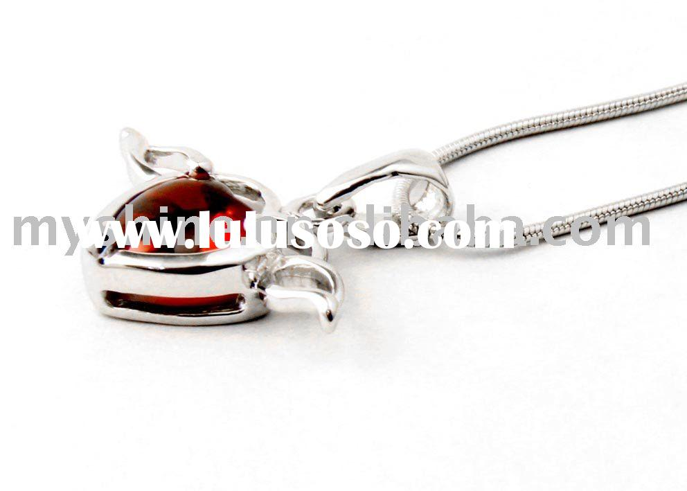 925 silver jewelry with diamond sterling silver pendant