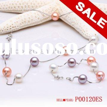 925 sterling silver chain tin cup pearl necklace