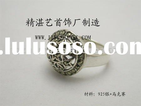 925 sterling silver marcasite ring(OEM orders are welcome)