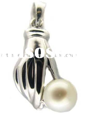 925 sterling silver pendant inlaid with pearl (necklace pendant)