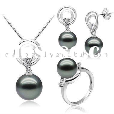 925 sterling silver set with pearl
