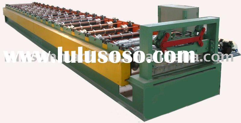 960 color steel metal roofing sheet profile cold roll forming machine for GI or PPGI