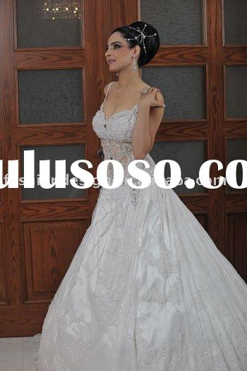 A104 2010 fashion designer lebanon bridal wedding dress