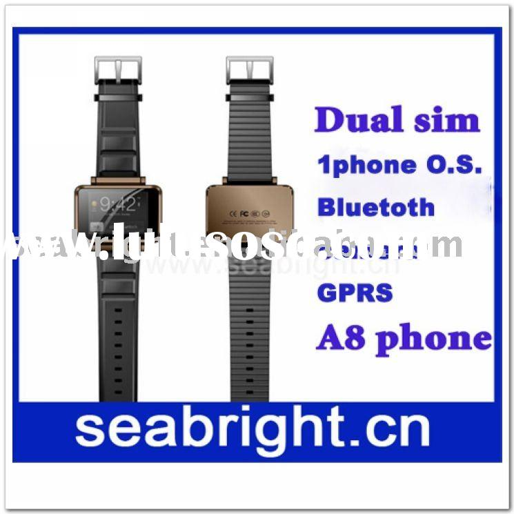 A8 classic famous dual sim card watch phone (bluetooth and camera)
