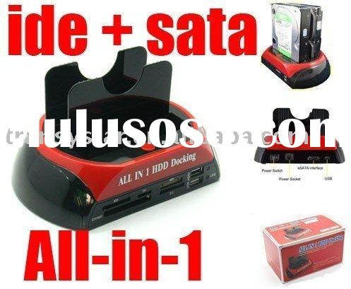 ALL IN 1 HDD Docking Dual Station Support 3.5 IDE USB eSATA SATA HDD Docking Station