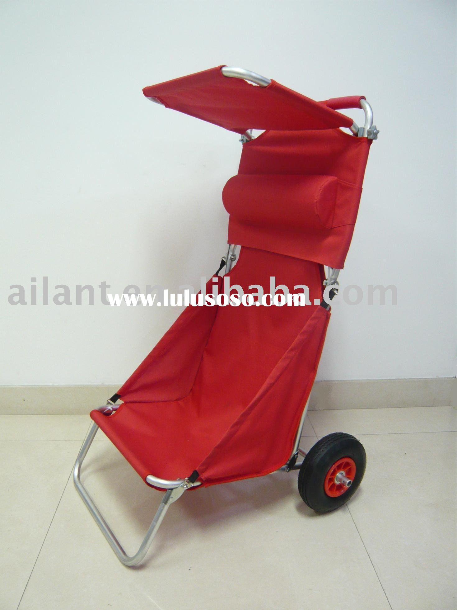 Aluminium Foldable Beach Trolley/Camping chair/Beach rolley/Garden Chair/Fishing Equipment/Swimming