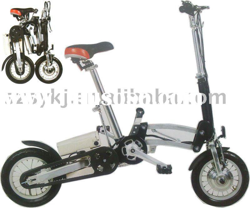 Aluminum one second Folding electric bicycle with Panasonic Li- ion battery