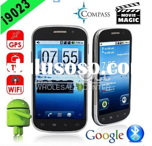 Android 2.2 unlocked 4.0 big touch screen GPS wifi TV mobile phone i9023 accept paypal