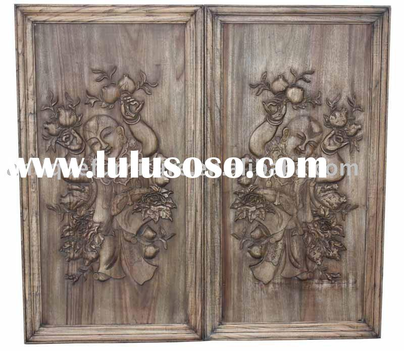 Carved wall decor