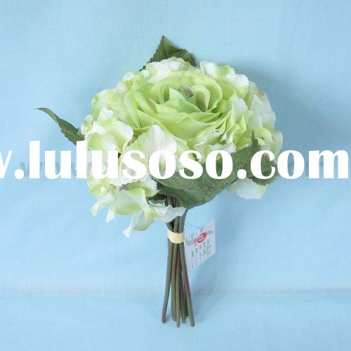 Artificial Flower Bouquet Mixed with Silk Rose and Hydrangeas