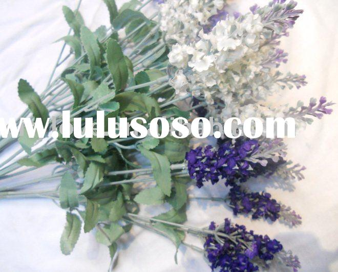 Artificial flower/artificial plant--Dreaming silk lavender--purple/white/green