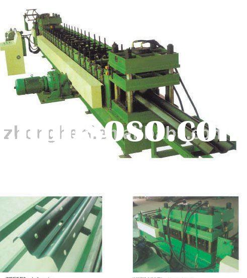 Automatic road guardrail roll forming machine