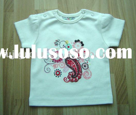 Baby boy 100% combed cotton with printing short sleeve T-shirts