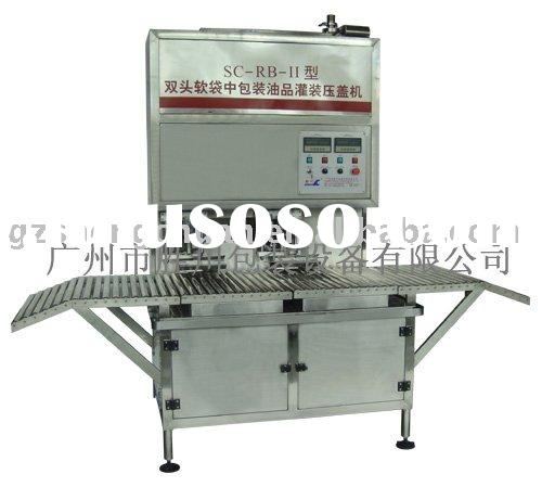 Bag-in-box filling and capping machine