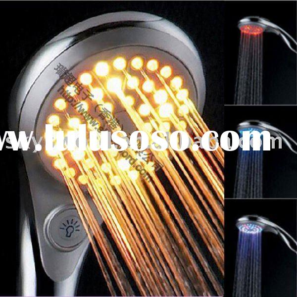 Bathroom Supplies temperature detectable RGB led lighted water saving shower head