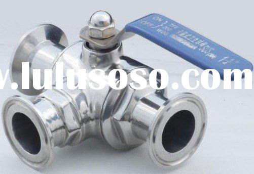 Beer Valve------Stainless steel Sanitary clamped three way Ball Valve